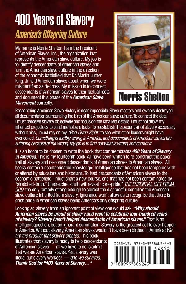 400 Years of Slavery back cover