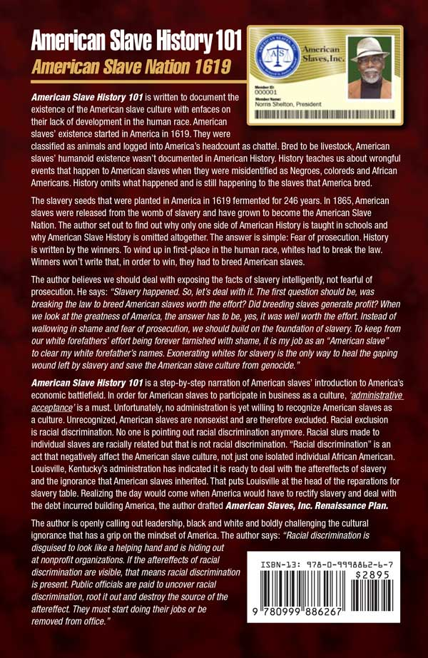 American Slave History 101 back cover