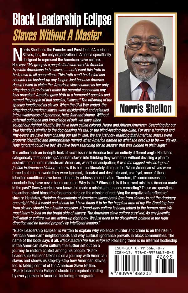Black Leadership Eclipse back cover